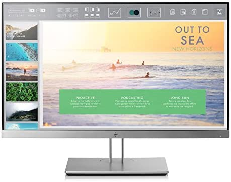 HP EliteDisplay E233 23-Inch Screen LED-Lit Monitor Silver (1FH46AA#ABA) - Aventis Systems