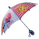 Shopkins Little Girl's Assorted Character Rainwear Umbrella Accessory, blue/pink, Age 3-7