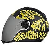 Steelbird SBA-2 Strength Stylish bike full face helmet with free transparent Visor for night vision (580MM, Black with Red - Silver Mirror Visor)