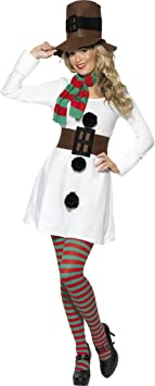 NET TOYS Disfraz muñeco de Nieve para Mujer Navidad Invierno ...