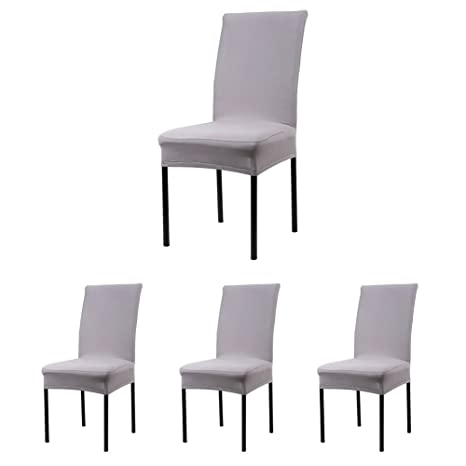 Cosyvie Lot De 4 Pcs Housses Couvertures De Chaise Extensibles Et