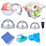 Bath Bomb Mold DIY bath bomb molds kits-12 pcs 3 size with 100 pcs Shrink Wrap Bags 1Heat Sealer 1Brush 1Spoons 1Gift Bag for Crafting Your Own Fizzles