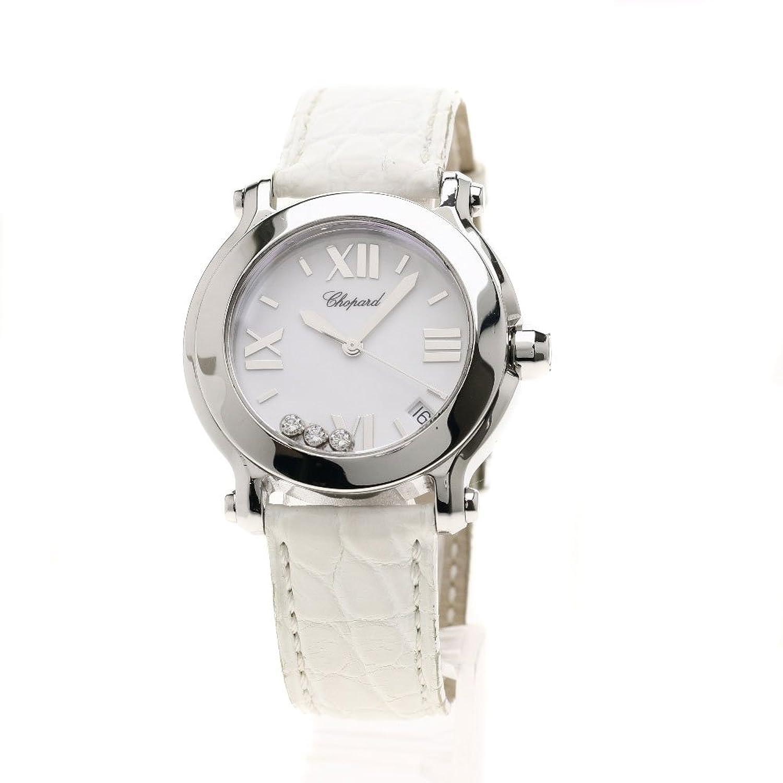 [ショパール]ハッピースポーツ マーク2 腕時計 SS/革 レディース (中古) B07CGCDD43