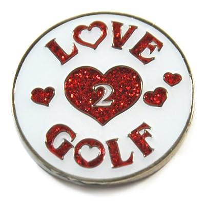Navika Love 2 Golf Glitzy Ball Marker with Hat Clip