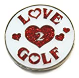 Navika Love 2 Golf Glitzy Ball Marker with Hat Clip