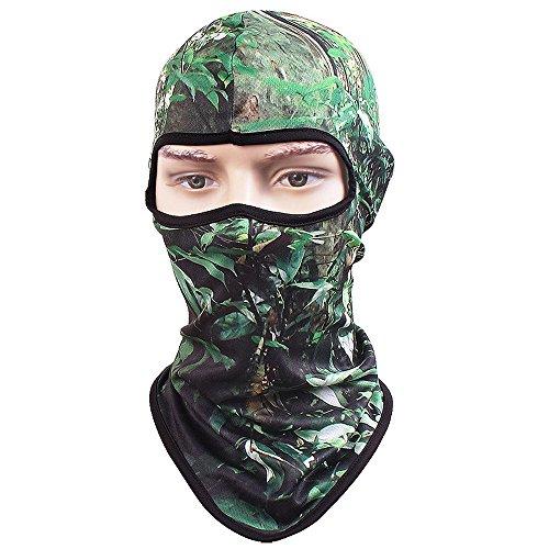 TClian 3D Camouflage Balaclava Full Face mask Ninja hood Millitary Hunting Camo Sun Protection (Jungle)