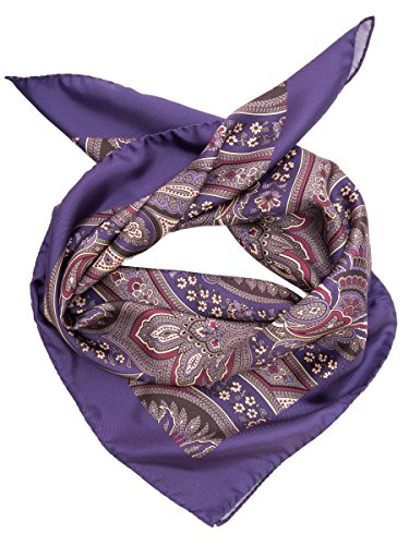 Elizabetta Men's Italian Designer Silk Square Scarf Neckerchief Bandana, Purple ()