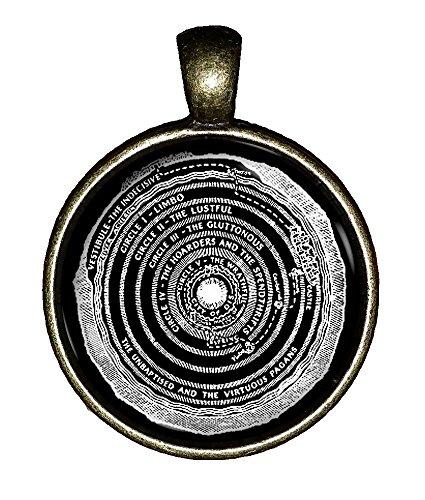 Hell Upper Hell necklace Dante's Inferno handmade Satanic Lucifer jewelry pendant Chaoticfashion