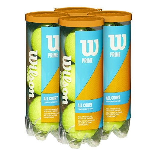 Wilson Prime All Court Tennis Ball 4 Pack (12 Balls)