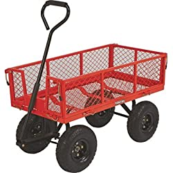 Steel Cart, 34in.L x 18in.W, 400-Lb. Capacity