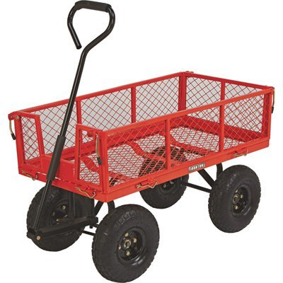 Steel Cart, 34in.L x 18in.W, 400-Lb. Capacity by Ironton