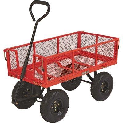 Ironton Steel Cart, 34in.L x 18in.W, 400-Lb. Capacity