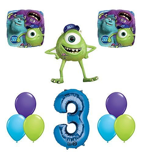 The Ultimate Monsters University Monsters Inc 3rd Birthday Party Supplies and Balloon Decorations