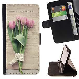 Dragon Case- Mappen-Kasten-Prima caja de la PU billetera de cuero con ranuras para tarjetas, efectivo Compartimiento desmontable y correa para la mu?eca FOR Samsung Galaxy G360 G3608 G3606- Rose Flower