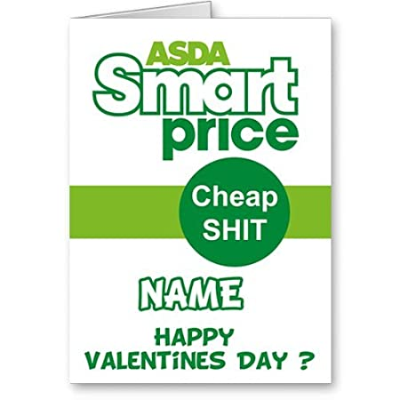 Humorous Valentines Card Asda Amazon Co Uk Kitchen Home