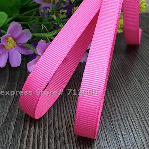 3/8' 9mm Tape - Jammas 3/8'' (9mm) Width Solid Grosgrain Ribbon Double Face Tape DIY hairbow Garment Bag Shoe Accessory Gift Wrapping Material 20 Yards - (Color: 156 hot Pink)