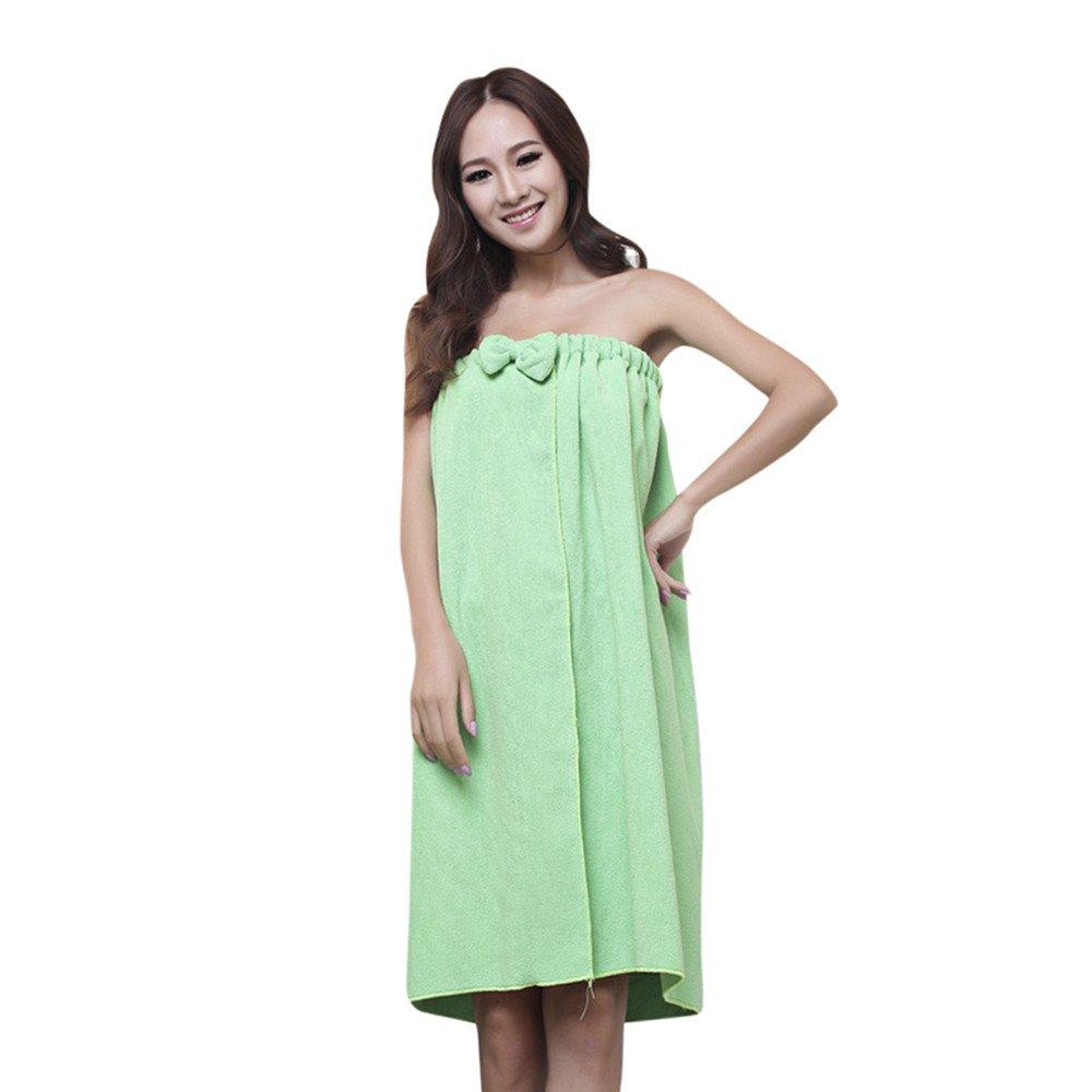 ♥♥ICE Cream Comfy Absorbent Microfiber Women's Shower Spa Body Wrap Bath Towel (Green)