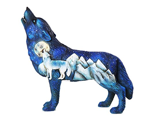 Pacific Giftware The Wolf Spirit Collection Frost Mountain Wolf Spirit Collectible - Spirit Mountain Figurine