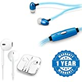 Drumstone Light Glow Headphone LED Stereo Earphone With Earpod With Remote And Mic Wired Headset Compatible with Xiaomi, Lenovo, Apple, Samsung, Sony, Oppo, Gionee, Vivo Smartphones (1 Year Warranty)