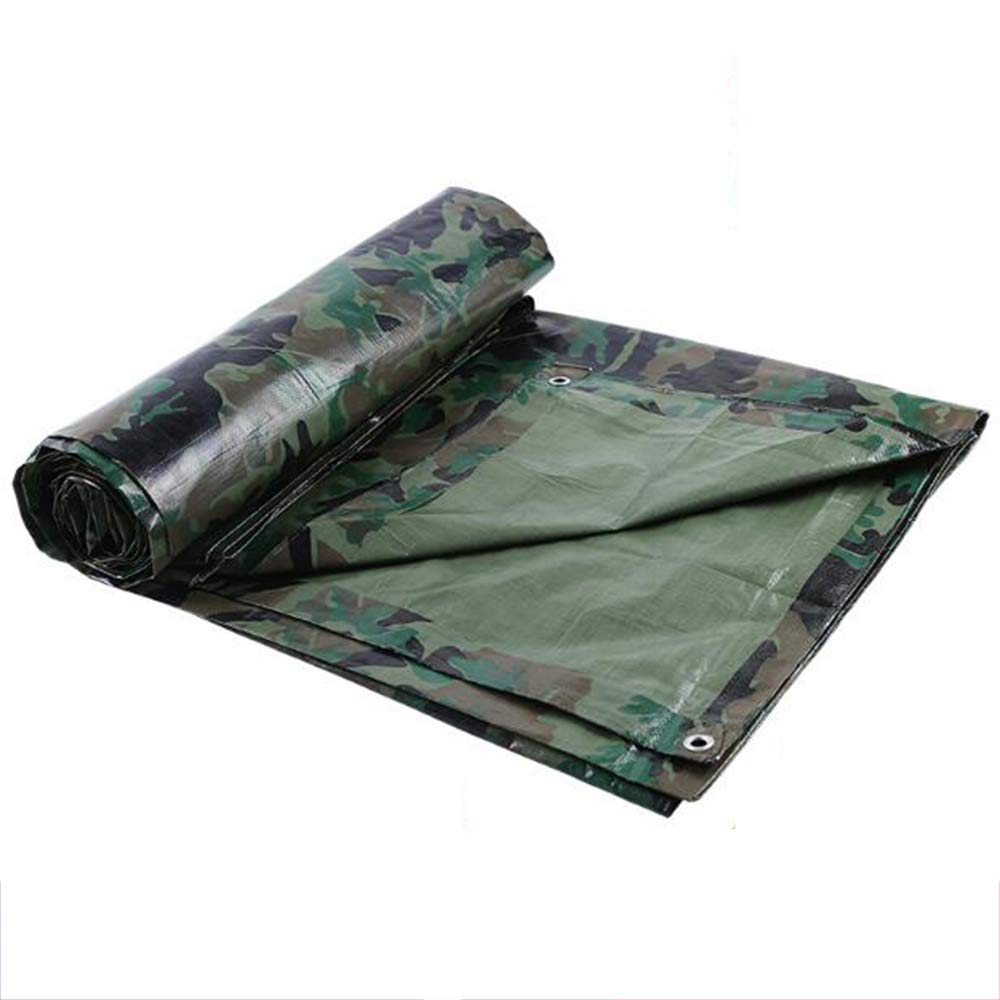 WSGZH Outdoor Camouflage Rainproof Camouflage Cloth Wasserdichter Sonnenschutz Markisenstoff Verdickter PE-Regenschutztuch Multifunktions-LKW-Plane Sonnencreme Verschleißfest