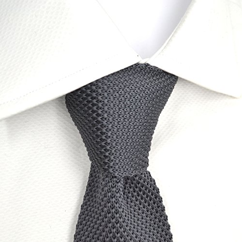 Box In Presentation of Plain Tie Gift Silk Handmade dark London 100 Knitted grey Square End Butlers Mens OF0zwBq