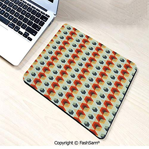 Personalized 3D Mouse Pad Hexagonal Comb Pattern Abstract Rhombus Borders Modern Artistic for Laptop Desktop(W7.8xL9.45)