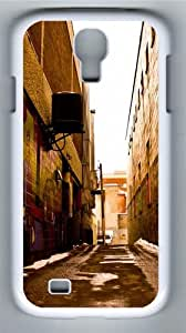 Alley Art PC Case Cover for Samsung Galaxy S4 and Samsung Galaxy I9500 White