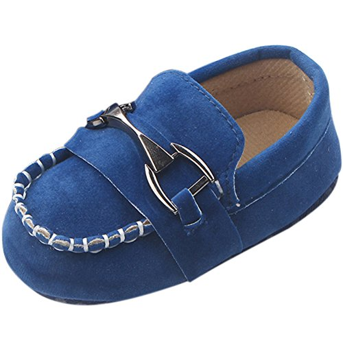 Image of Fire Frog Baby Shoes Infant Toddler Boy Shoes Crib Bebe Classic Handsome Soft Soled Loafers