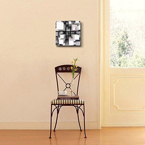 3D Abstract Square Pillar Geometric Pattern Wall Decor