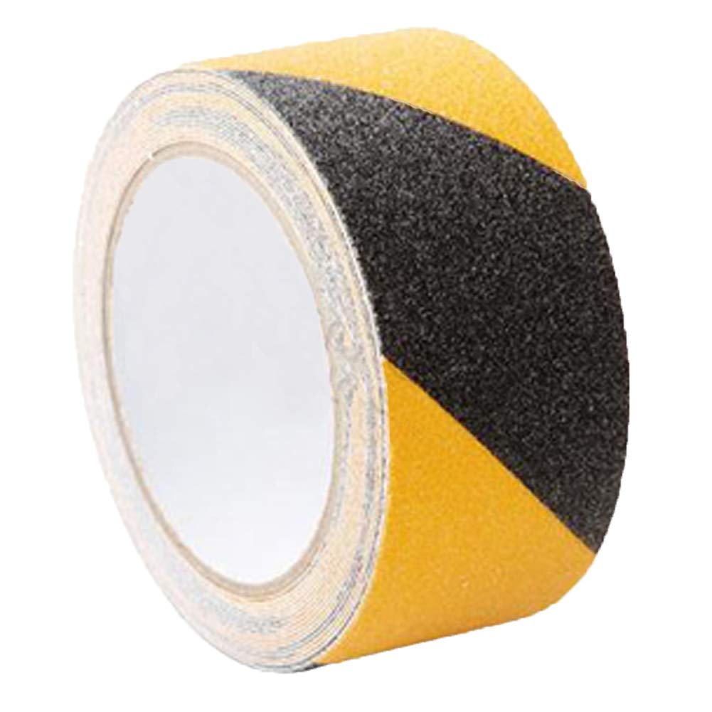 Stripe Tape Black & Yellow Hazard Warning Safety 2 Inch X 32 Foot for Walls Floors, Pipes and Equipment 1.1Lb/500G AIZYR