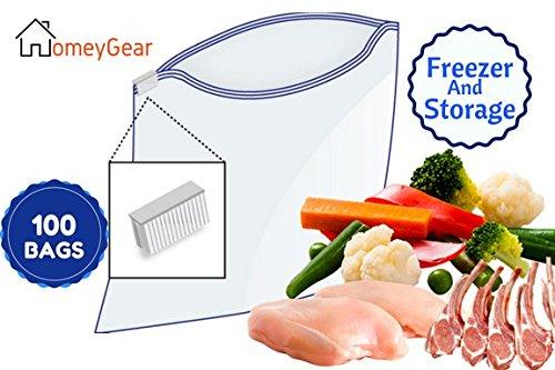 3 Mil Slider (Extra Large Heavy Weight Storage Freezer Slider Bags 13