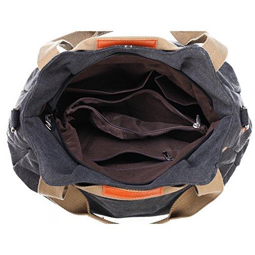 Ladies Women's Tote Hobo Daily Vintage Handbag Casual Z Purse Canvas Shopper Handle Brown Top Shoulder joyee qRn5BHwUxE
