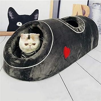 LouisaYork - Saco de Dormir Grande para Gatos, Cama para Mascotas, sofá Interior, Suave y Acogedor, Cama para Gatito, cojín para Saco de Dormir para Gatos, ...