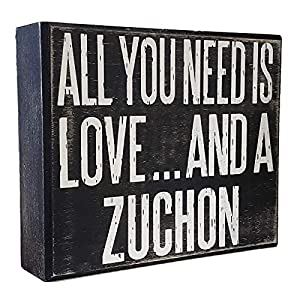 JennyGems - All You Need is Love and a Zuchon - Wooden Sign - Zuchon Signs - Zuchon Moms - Teddy Bear Dog 10