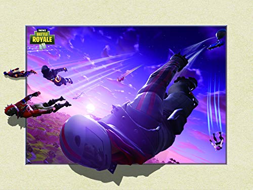 Fortnite Poster Laminated Holographic 3D Edition 32 x 24 Inches (for Gifts and Game Room Decor) -