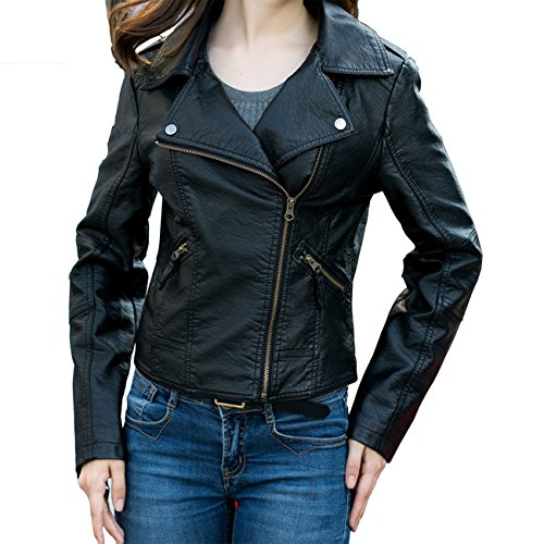 Biker Black Leather Coats Jackets - 5