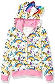 Jojo Siwa Girls Unicorns & Rainbows All Over Print Zip Up Hoodie with
