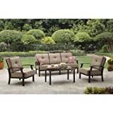 Better Homes and Garden Carter Hills Outdoor Conversation Set, Seats 5 (Tan)