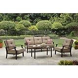 Cheap Better Homes and Garden Carter Hills Outdoor Conversation Set, Seats 5 (Tan)