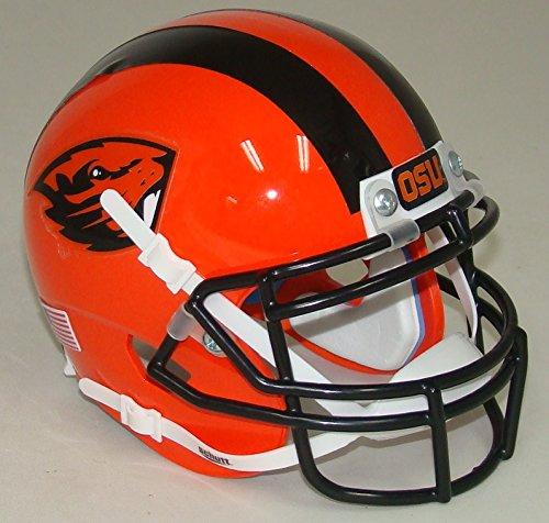 Helmet Oregon Mini Beavers State (Oregon State Beavers Orange #16 Alternate Schutt Authentic Mini Helmet (Alt 6))