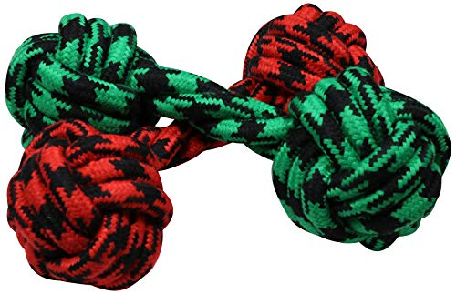 - Coleman Durable Double Knot Rope Dog Chew Toy (2 Pack), Green/Red'