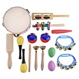 Toddler Musical Instruments - 16 PCS Wood Percussion Instruments Toy for Kids Preschool Educational...