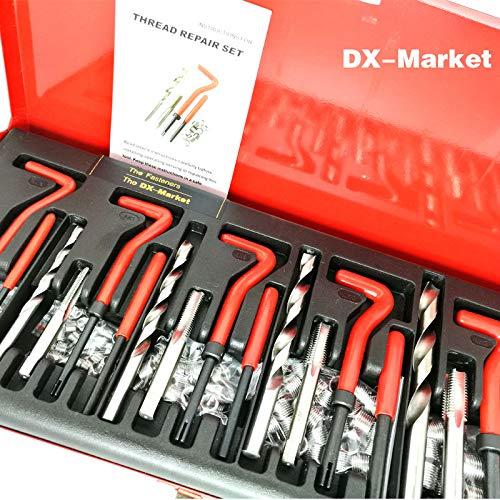 Ochoos 131pcs Thread Repair Set, m5 m6 m8 m10 m12 Metric Thread Insert Repair Tools with 1.5D Coil, Tin Suit H006-20 by Ochoos