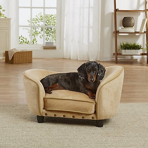 Enchanted Home Pet Ultra Plush Snuggle Bed in Caramel