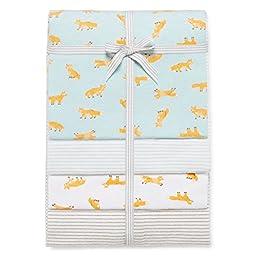 Carter\'s Baby Boys\' 4-Pack Receiving Blankets - Fox Print