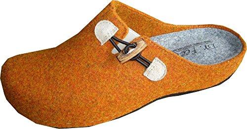 Dr.Feet Clogs - Zapatillas de estar por casa para mujer naranja