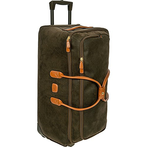 Bric's Life 28 inch Rolling Duffle Bag Suitcase, Olive by Bric's