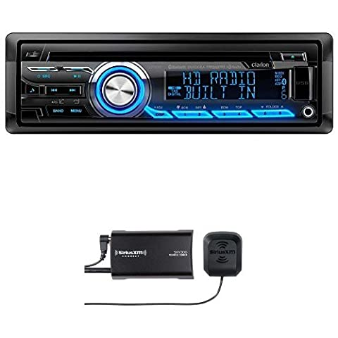 Clarion CZ505 Built-In HD Radio Tuner with SiriusXM SXV300v1 Connect Vehicle Tuner Kit Bundle (Clarion Android)