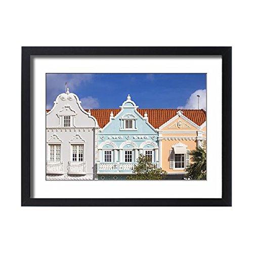 Robert Harding Framed 24x18 Print of Colonial Dutch architechure near Main Street, Oranjestad, Aruba (12987119)