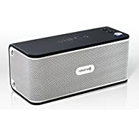 Rokono B20 BASS+ Best Waterproof Wireless Portable Bluetooth Speaker System for Indoor and Outdoor - Compatible with Apple iPhones, iPads, Laptops & More - Super Bass & Long Battery Life - Black
